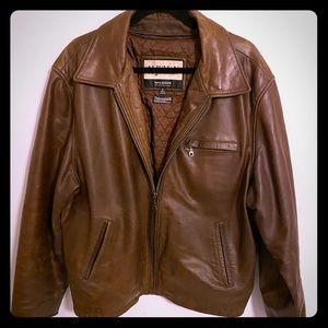 M Julian Wilson's leather Thinsulate brown jacket